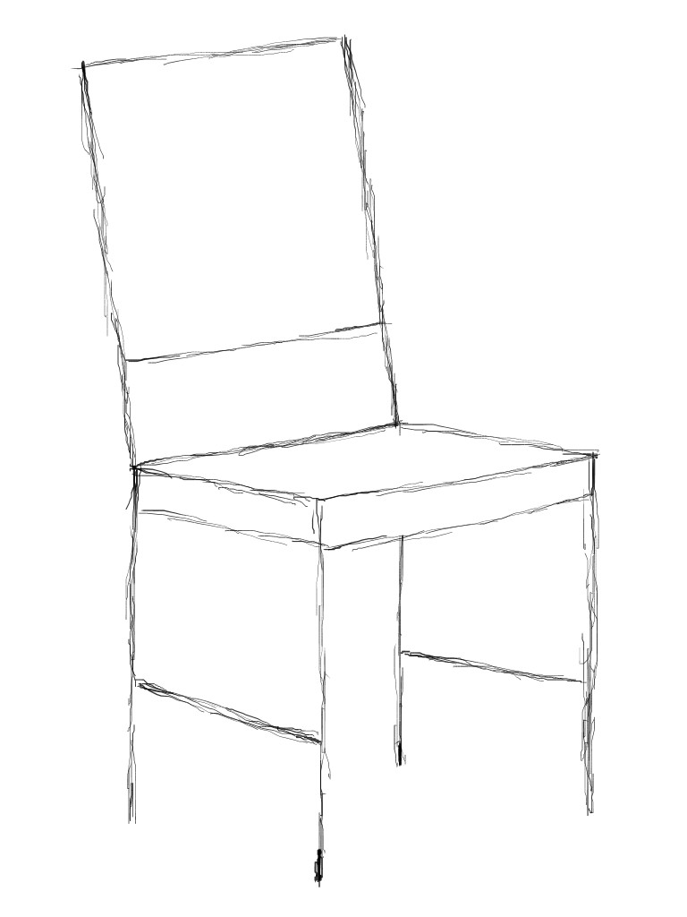 Stuhl gezeichnet  4.3 Ein Stuhl - GIMP-Werkstatt