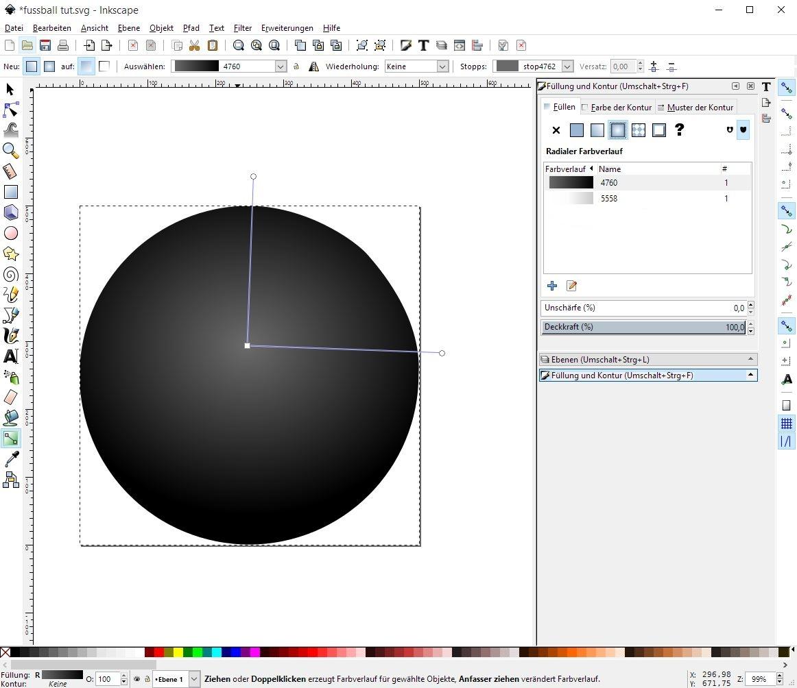 Tutorial zum Erstellen eines Fussballs - GIMP-Werkstatt